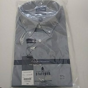 Stafford Men's Cotton Pinpoint Oxford NWT